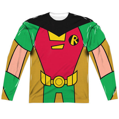 Robin Teen Titans Long Sleeve Costume Tee