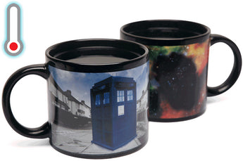 Awesome Dr. Who Disappearing Tardis. Color Changing Mug. Heat-sensitive.