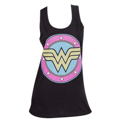 Wonder Women Logo Black Tank