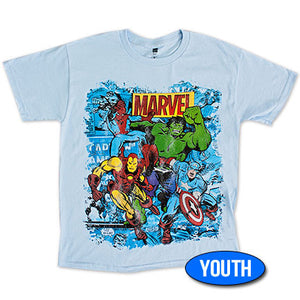 Marvel Team Youth Boys 8-20 T Shirt - Blue