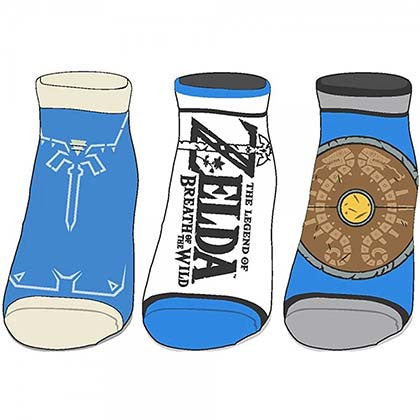 Legend Of Zelda Breath Of The Wild Ankle Socks Set