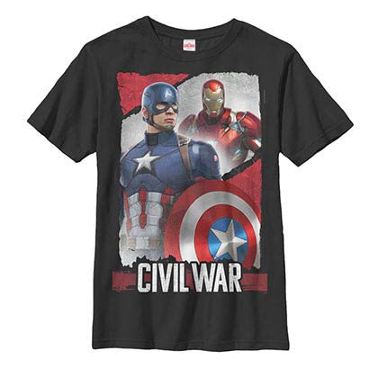 Captain America: Civil War Duo Black Youth T-Shirt
