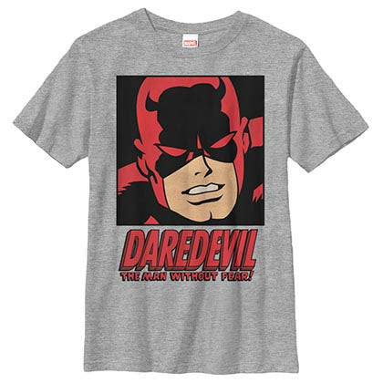 Daredevil Man Without Fear Gray Youth T-Shirt