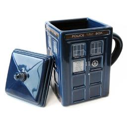 Doctor Who Tardis Figure Mug with Removable Lid