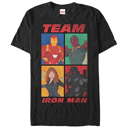 Iron Man TeamBlack Mens T-Shirt