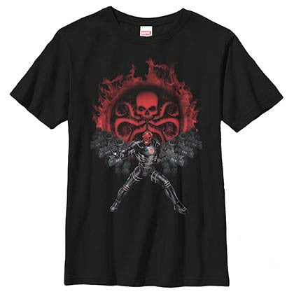 Captain America: Civil War RedSkull HydraRecruits Black Youth T-Shirt