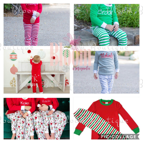 Embroidered Christmas Pajamas