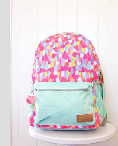 Jadelynn Brooke Confetti Backpack (With FREE Monogram}