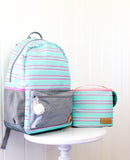 Jadelynn Brooke Mint Striped Backpack