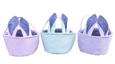 Seersucker Easter Bunny Baskets