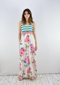 Striped Top Maxi