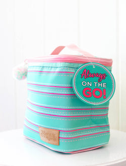 Jadelynn Brooke Mint Striped Lunchbox