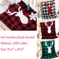 Plaid Deer Blanket