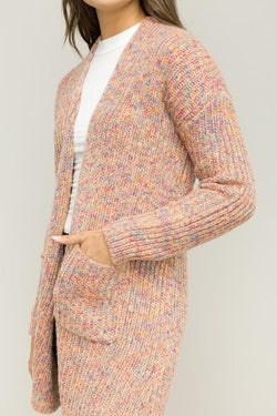 Multicolored Open Cardi