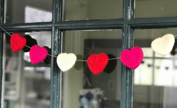 Felted Heart Garland Kit