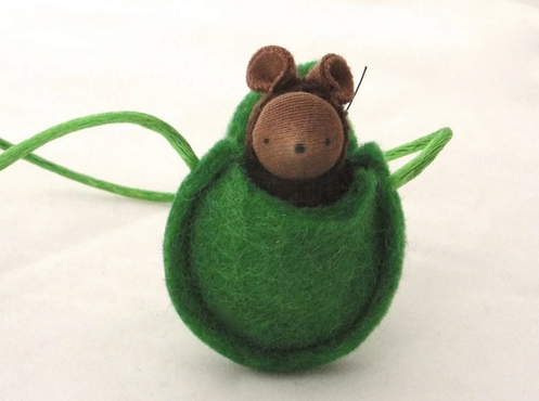 Brown Mouse Necklace