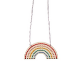 Wooden Rainbow Necklace Embroidery Kit