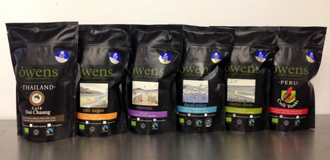 Owen's Coffee Roasters 100% Organic and Fairtrade coffee's roasted on the edge of Dartmoor Gifts from Dartmoor Devon