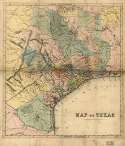 184?  Texas Map,  W. Bollaert