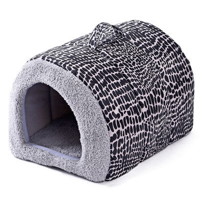 2 Color Leopard Dog Kennel