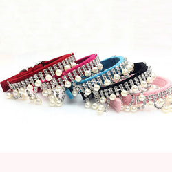 Rhinestone Pearl Necklace for your female pet dog