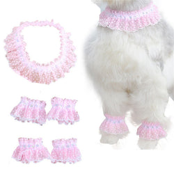 Elegant Puppy Pink lace jewelry - Five Piece Set
