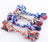Multi-color double Knotted Chew able Rope Toy