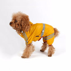Waterproof Rain Coat Reflective Stripe For Small Dogs - 1 Pcs