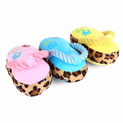 Plush squeaky sounding chewable Slippers - 1 Pcs