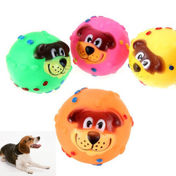 Squeaky Rubber Dog Face toy