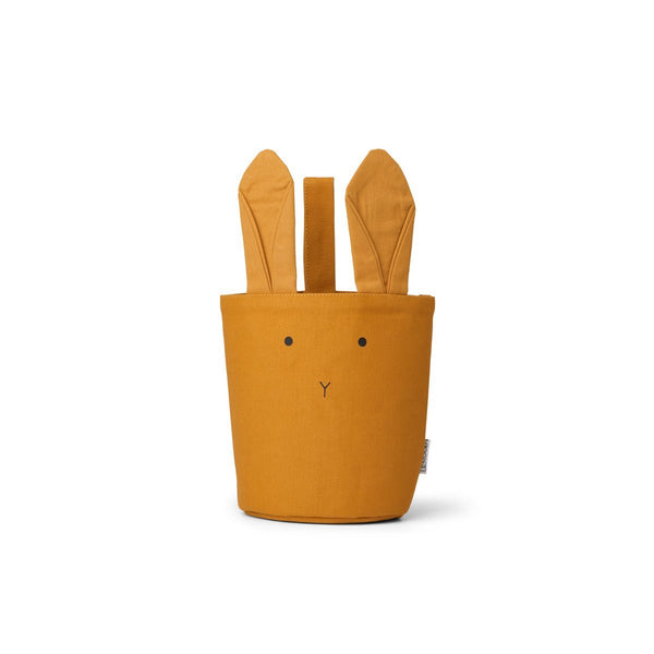 Liewood Ib Fabric Basket - Rabbit Mustard - scandibornusa
