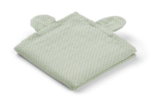 Liewood Hannah Bear muslin cloth in Little Dot Dusty Mint (2 pack) - scandibornusa
