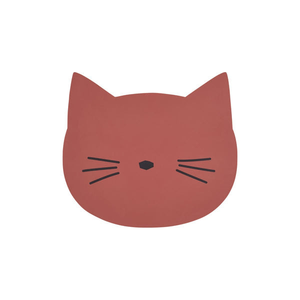 Liewood Aura Cat Placemat in Rusty - scandibornusa
