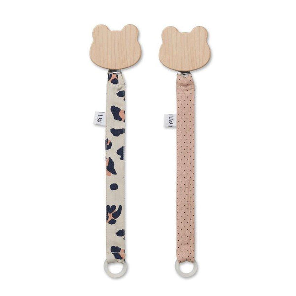 Liewood Sia Pacifier Strap in Leo Beige Beauty - scandibornusa