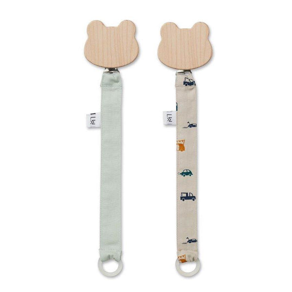 Liewood Sia Pacifier Strap in Cars - scandibornusa