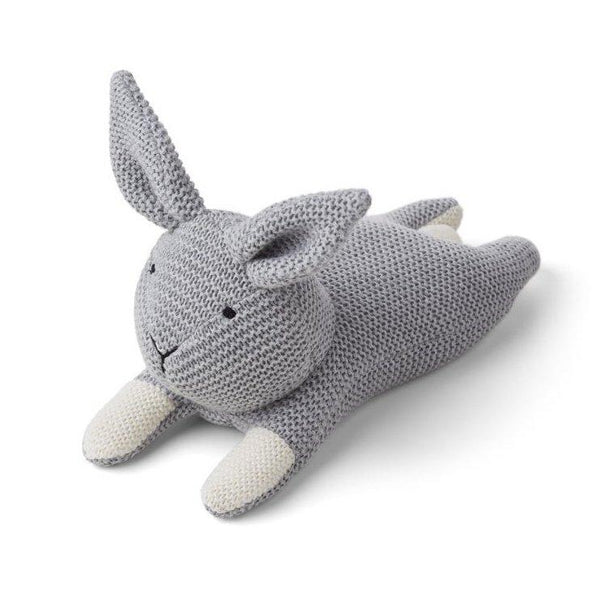 Liewood Missy Knit Teddy - Rabbit Grey Melange - scandibornusa