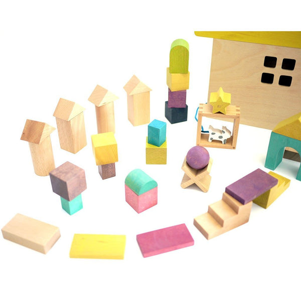 Kiko & GG Tsumiki - Building Blocks Wooden House - scandibornusa