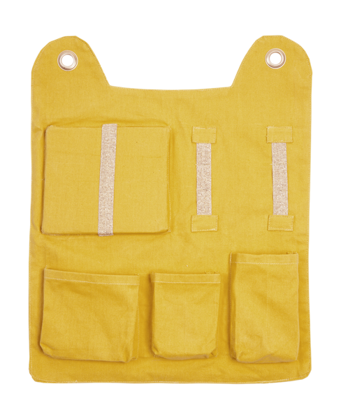 Fableab Wall Pocket - Yellow Bear - scandibornusa