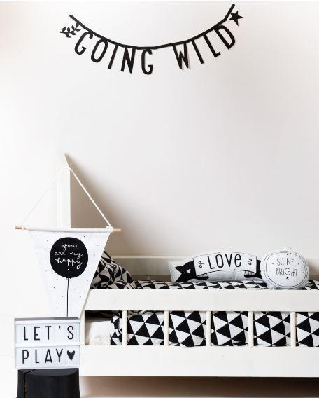 A Little Lovely Company Letter Banner - Black