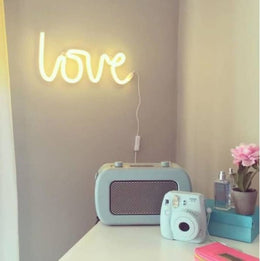 A Little Lovely Company Love Neon Wall Light in Yellow