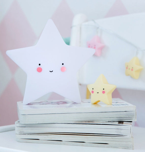 A Little Lovely Company - Mini Star Light White