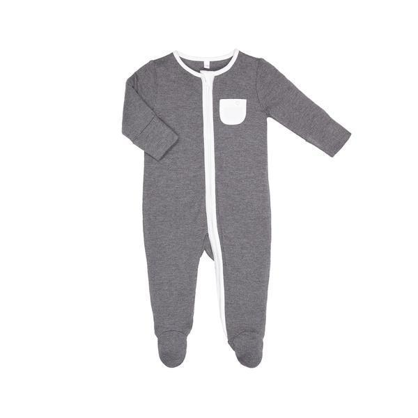 Baby Mori Organic Zip Up Sleepsuit in Lunar