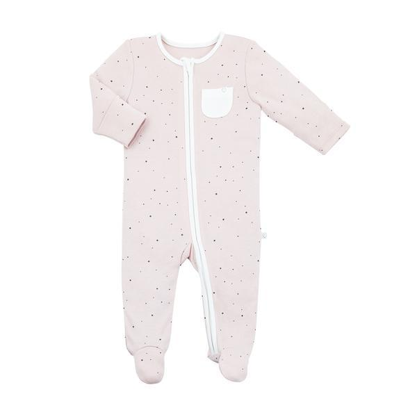 Baby Mori Organic Zip Up Sleepsuit in Stardust