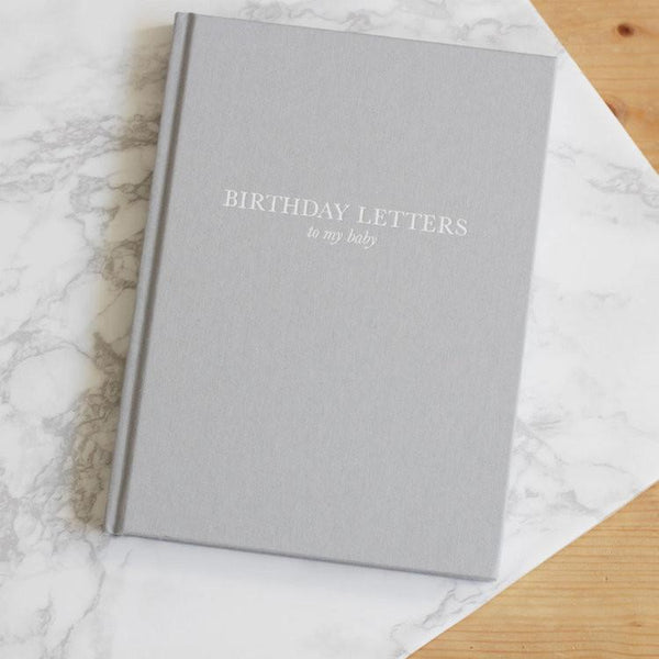 Birthday Letters to My Baby Book - Grey Cover
