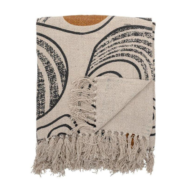 Bloomingville Giano Recycled Cotton Throw in Nature