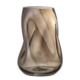 Bloomingville -  Glass Vase in Brown