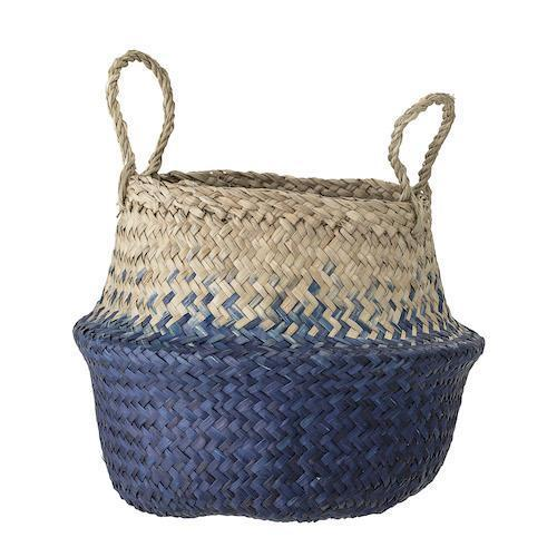 Bloomingville Seagrass Basket in Blue