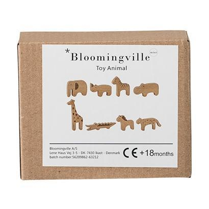 Bloomingville Set of 8 Wooden Animals