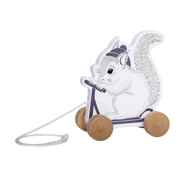 Bloomingville Wooden Pull Along Squirrel
