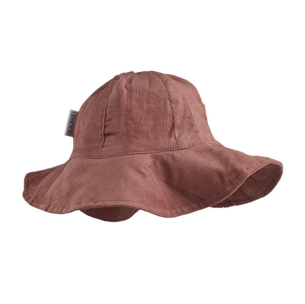 Liewood Yvonne Sun Hat in Dark Rose - scandibornusa
